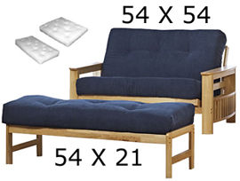 Loveseat 54 X Ottoman 21 The Futon Uses A Cushion That Is Wide And Long For Seat Back Of Frame