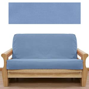 Solid Light Blue Futon Cover
