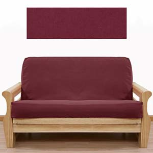 Solid Burgundy Futon Cover