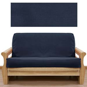 Solid Navy Futon Cover