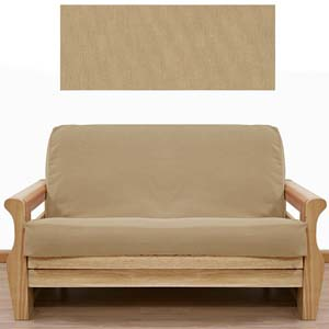 Solid Tan Futon Cover