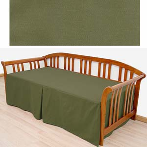 Twill Solid Olive Daybed Cover