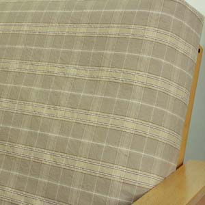 Sand Beige Plaid Daybed Cover