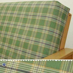 Woodland Green Plaid Fitted Mattress Cover