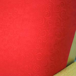 Mini Swirl Red Damask Futon Cover