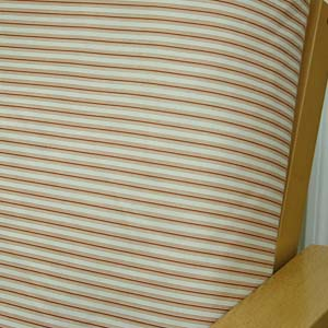 Cottage Stripe Cinnamon Daybed Cover