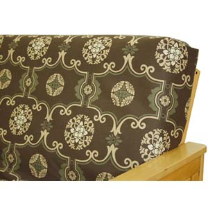 Moroccan Brown Fitted Mattress Cover