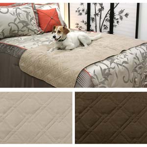 Quilted Suede Bed Protector