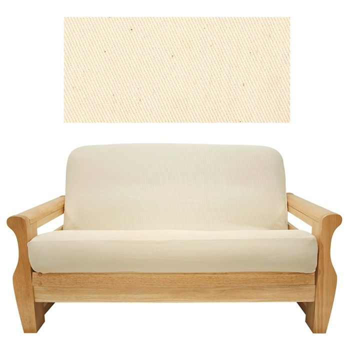 Solid Natural Futon Cover From