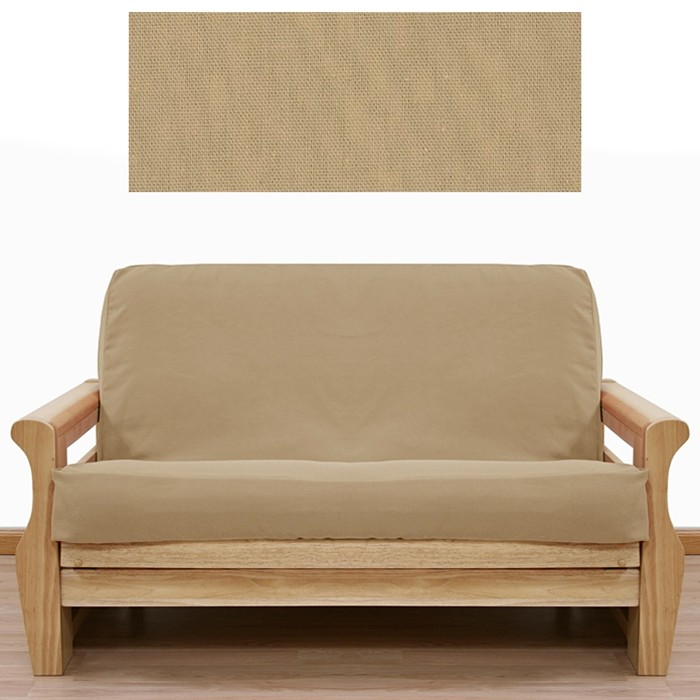 Solid Tan Futon Cover From