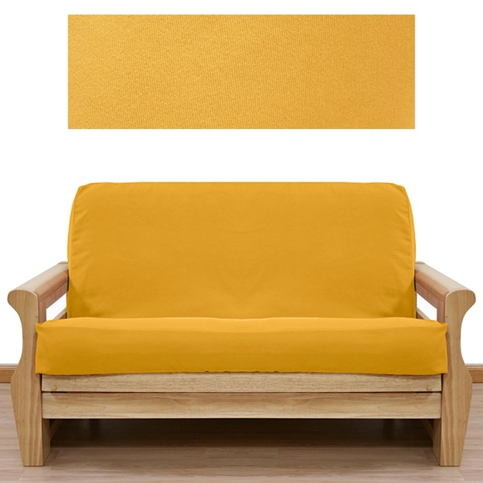 Ultra Suede Gold Yellow Full Size Futon Cover With Pillows Buy Unique Futon Cover Set With Pillows
