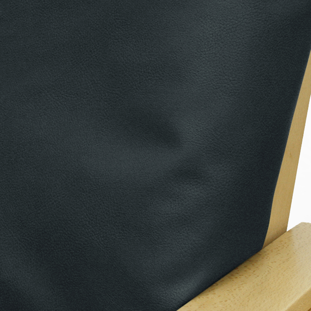 Faux Leather Navy Futon Cover