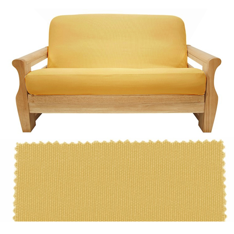 Brushed Sunflower Canvas Full Futon Cover Wth 2 Pillows 44