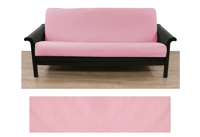 Solid Light Pink Futon Cover Buy From Manufacturer And Save