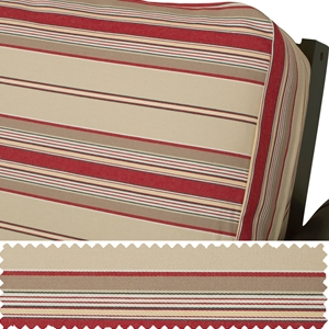 Berry Denim Stripe Daybed Cover