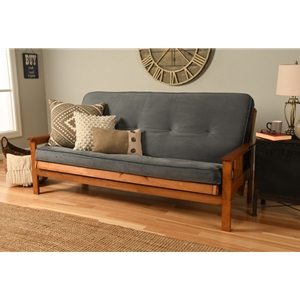 Mission Arm Barbados Full Futon Frame with Velvet Storm Mattress