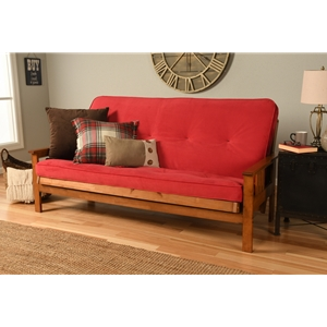 Mission Arm Barbados Full Futon Frame with Velvet Fire Mattress