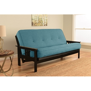 mission-arm-black-full-futon-frame-with-linen-aqua-mattress