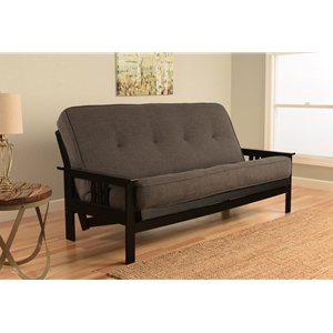 mission-arm-black-full-futon-frame-with-linen-charcoal-mattress