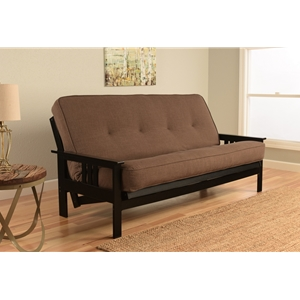 mission-arm-black-full-futon-frame-with-linen-cocoa-mattress