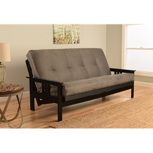 mission-arm-black-full-futon-frame-with-suede-gray-mattress