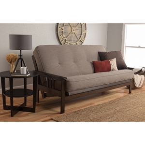 mission-arm-espresso-full-futon-frame-with-linen-stone-mattress