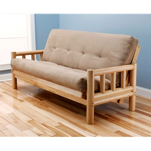 log-arm-natural-full-futon-frame-with-mattress-in-suede-peat