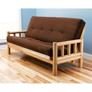 log-arm-natural-full-futon-frame-with-mattress-in-suede-chocolate