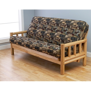 log-arm-natural-full-futon-frame-with-mattress-in-peters-cabin
