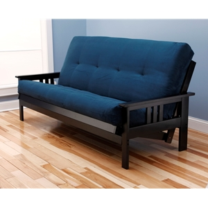 mission-arm-black-full-futon-frame-with-mattress-in-suede-navy