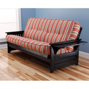 Tray Arm Espresso Full Futon Frame