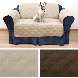 Quilted Suede Pet Furniture Protector