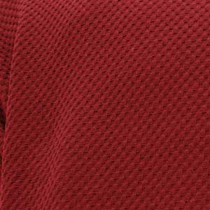 Stretch Pique Warm Maroon Fabric