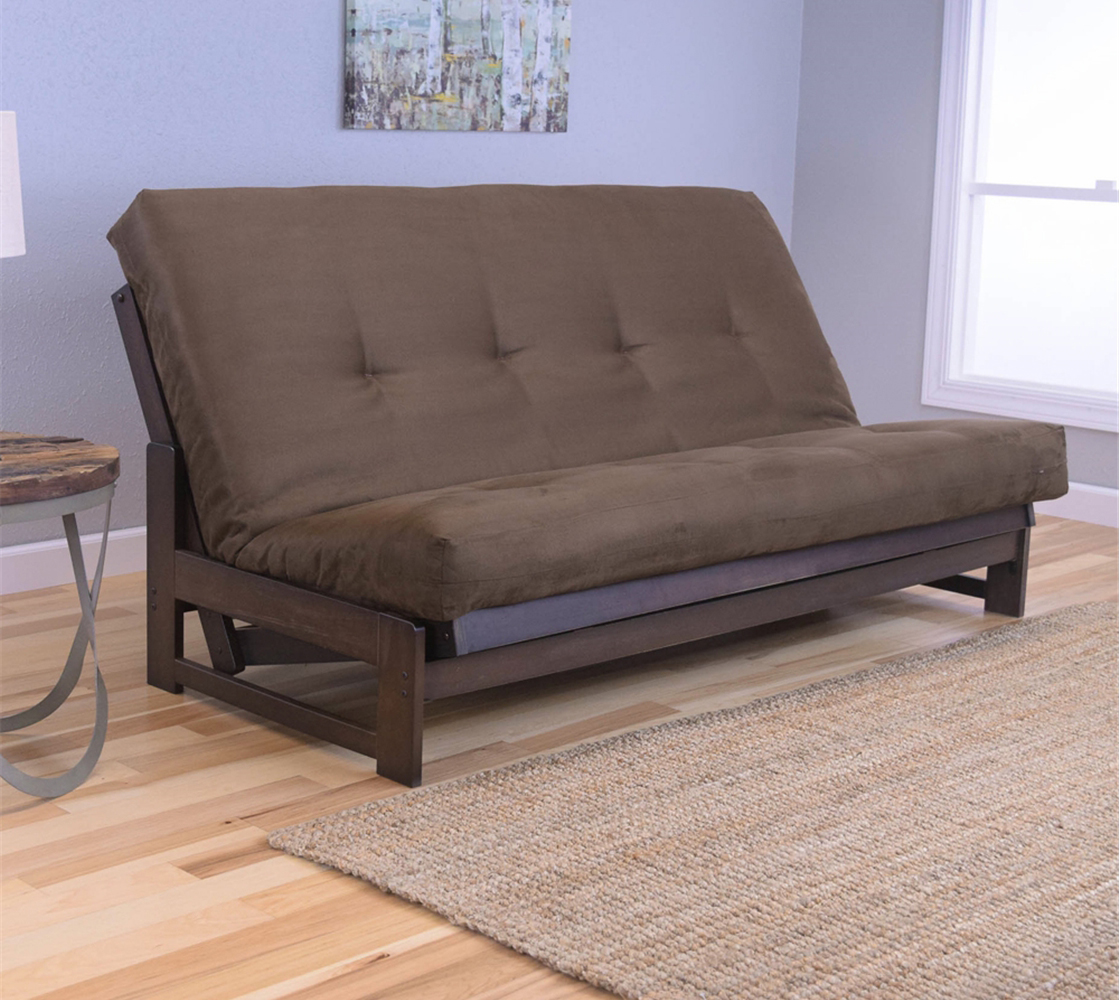 Low Arm Mocha Full Futon Frame With