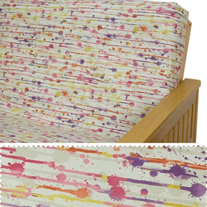 Abstract Brushstrokes Click Clack Futon Cover